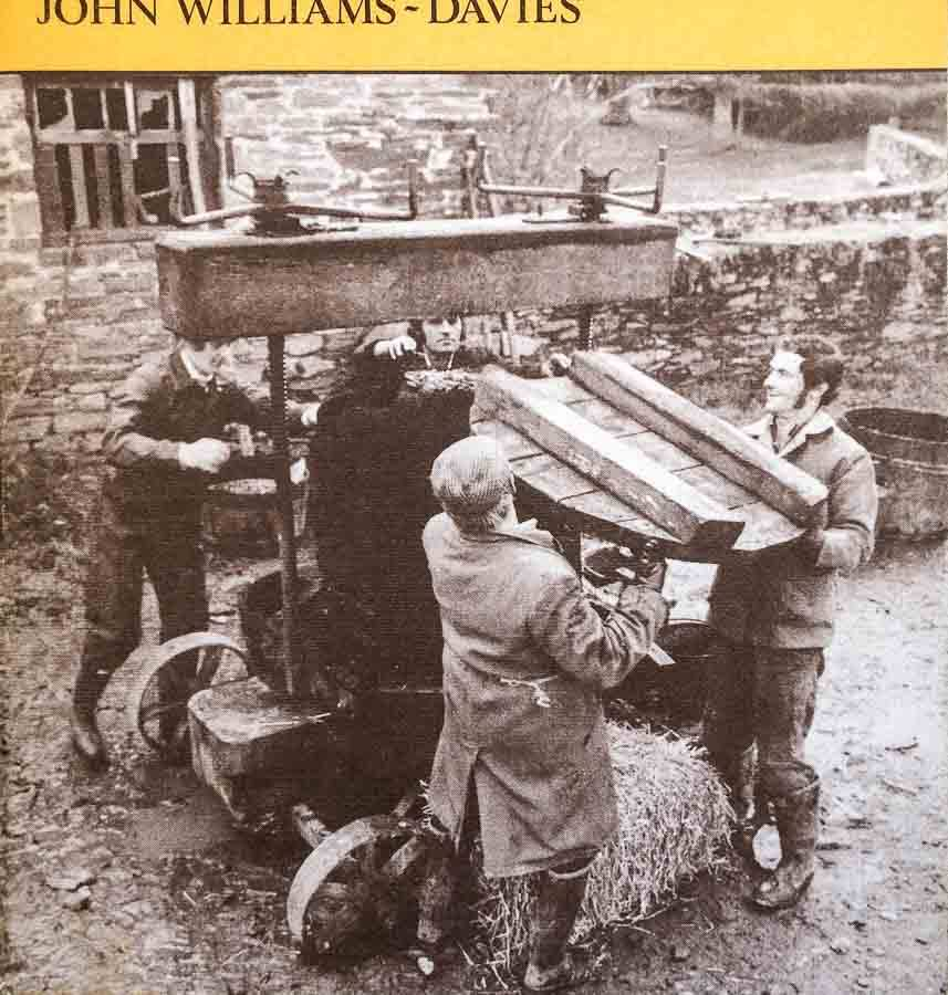 Image on front cover of a book by John Williams-Davies showing old wooden screw cider press