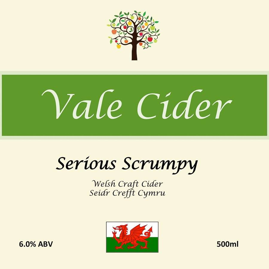 Welsh flag is prominent on all our Vale Cider labels
