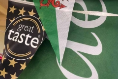 Vale Cider and Welsh flag and Create Taste Award bunting