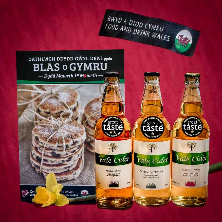 Vale Cider on stand at St David's Day event promoting award-winning Welsh food and drink