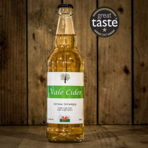 Bottle of Serious Scrumpy Vale Cider