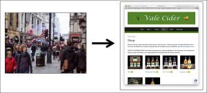 Image showing the move from high street to online shopping