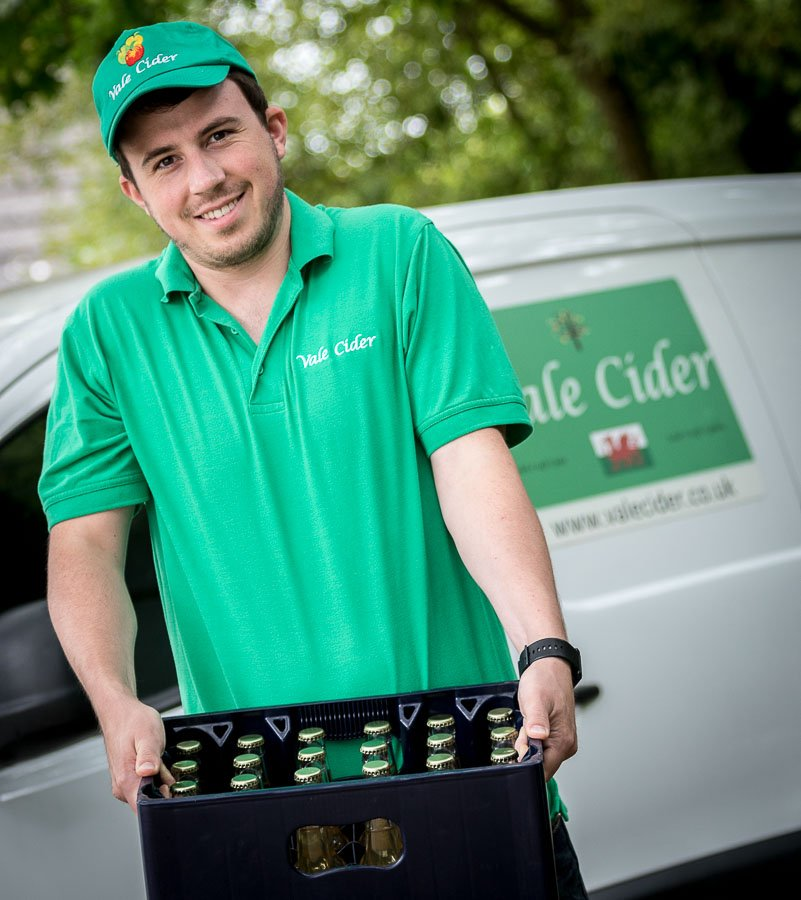 home delivery of cider by van