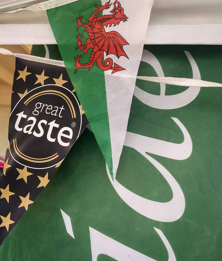 Bunting and flags for Vale Cider