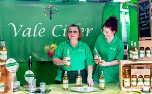 Vale Cider stall at Cowbridge Food and Drink Festival