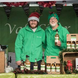 Vale Cider market stall at Christmas event
