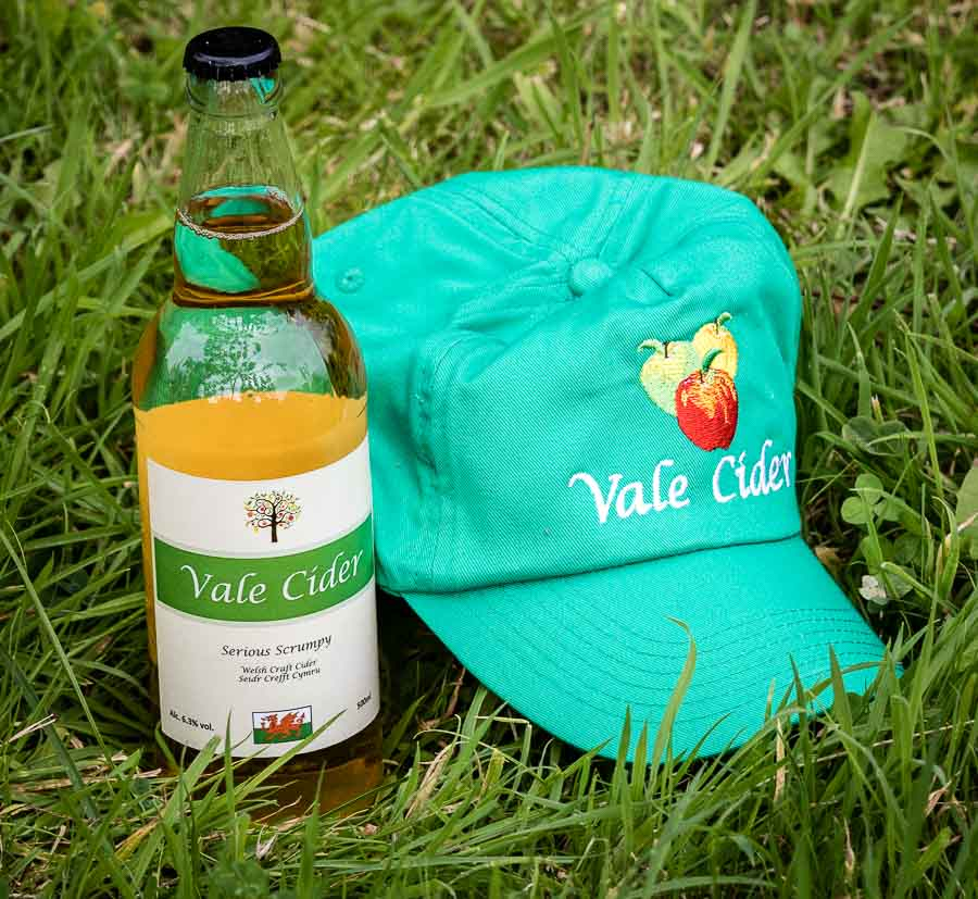 Vale Cider cap and bottle of cider