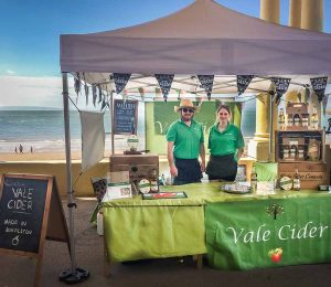 Vale Cider stall on seafront