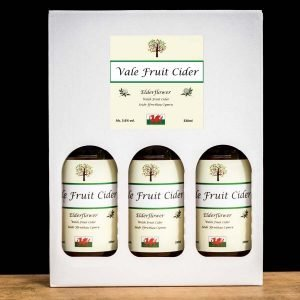 Gift box with bottles of Elderflower Vale Cider