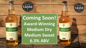 Bottles of new season Vale Cider