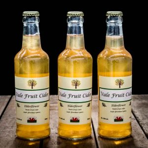 Bottle of Elderflower Vale Fruit Cider