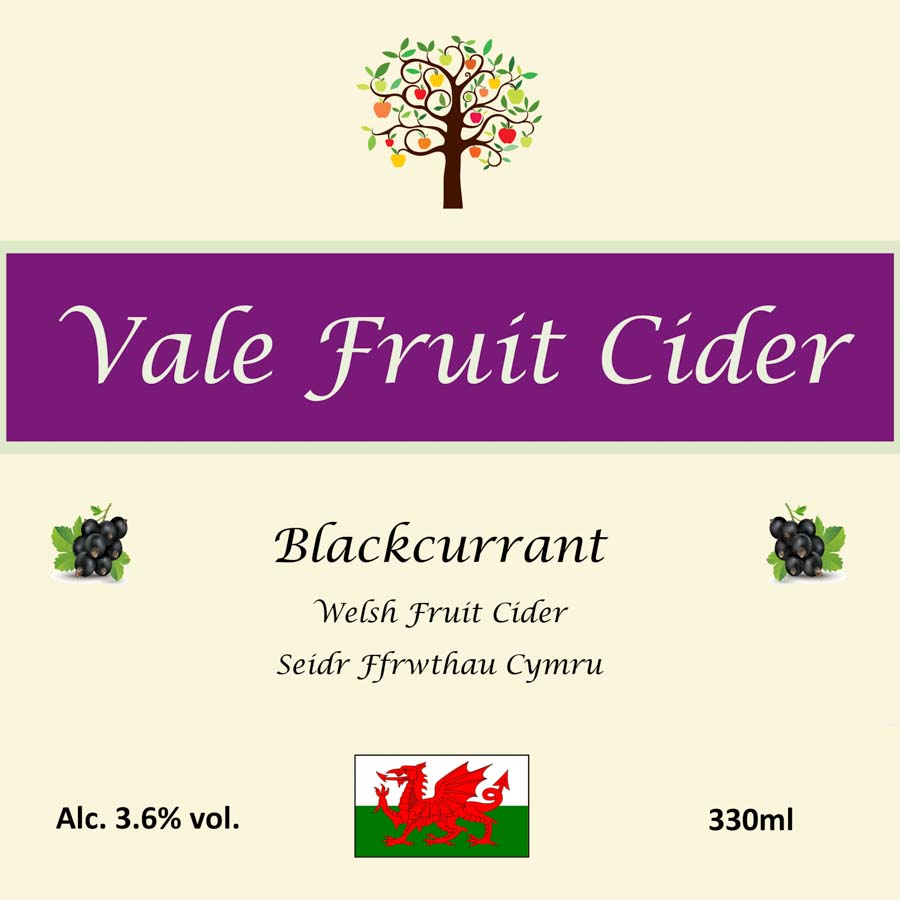 Front Label Blackcurrant Vale Fruit Cider