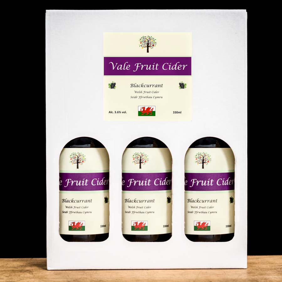 Gift Box of Blackcurrant Vale Fruit Cider