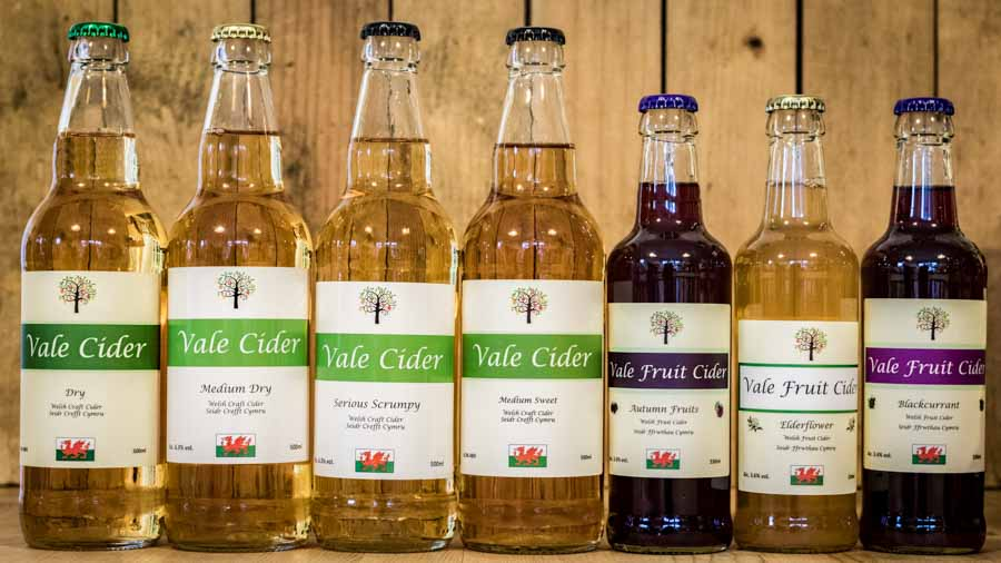 Range of fruit and traditional apple ciders