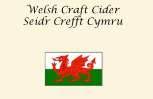 part of cider label in welsh