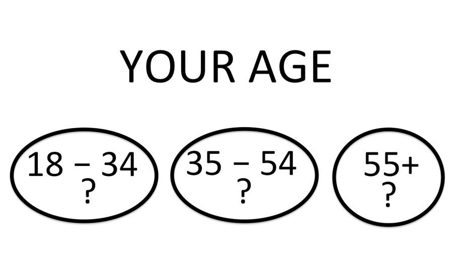 schematic showing age groups