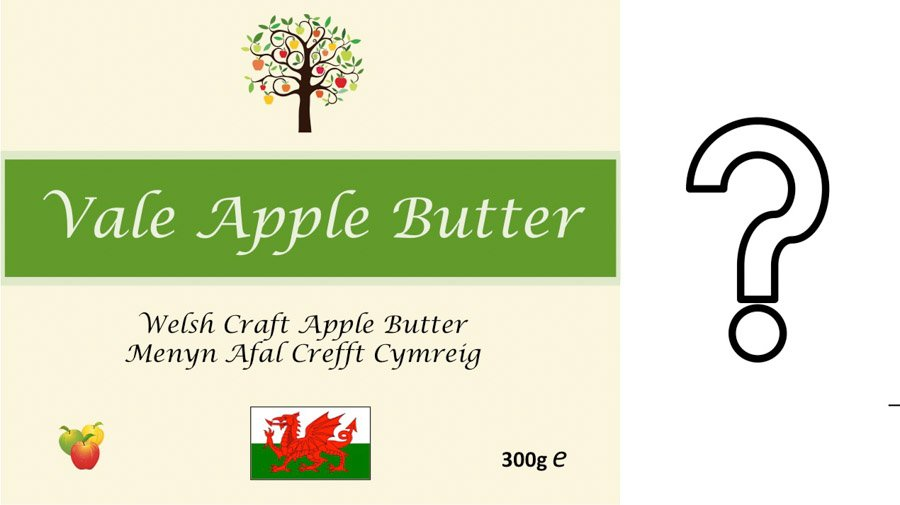 Label for a jar of apple butter