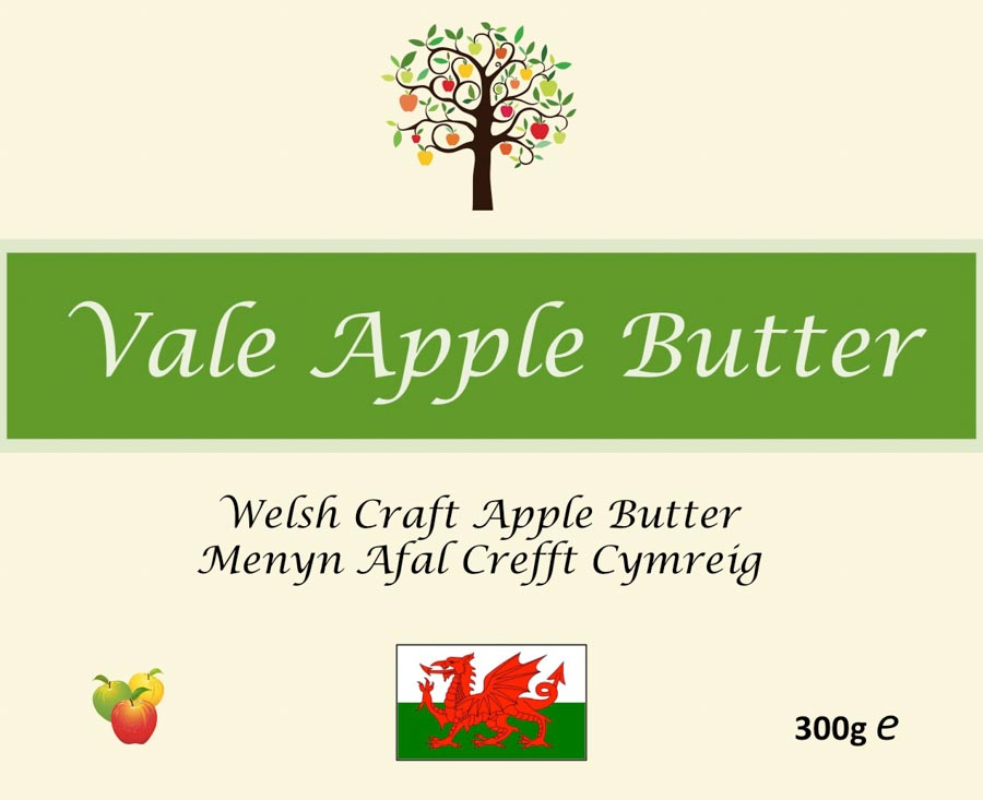 Front label for jar of Apple butter