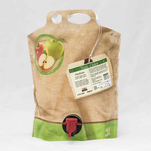 Pouch of cider